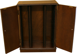 Bespoke CD & DVD Storage Cabinet Yew and Mahogany