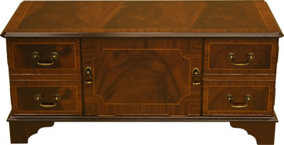 TV Stand with Solid Door Mahogany or Yew - Reproduction DVD And Plasma LCD Television Cabinets, Stands - Yew