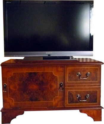 Reproduction Television Cabinet Walnut