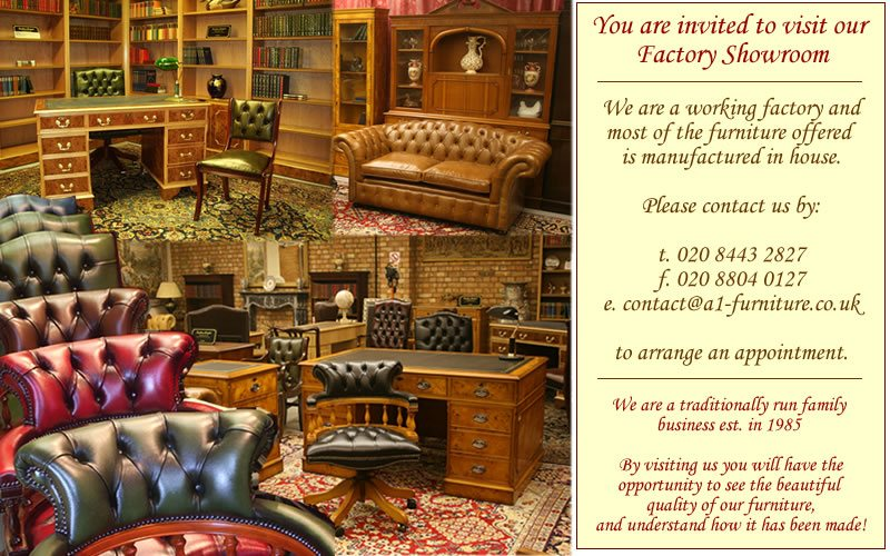 English Reproduction Furniture Showroom