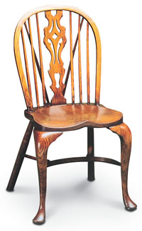 georgian medium sidechair with cabriole leg