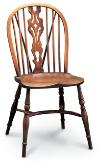 Georgian windsor sidechair with tail