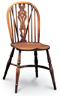 Windsor Georgian sidechair with tail small