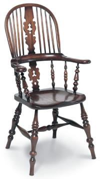 lancashire broadarm windsor chair