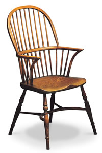 Stickback double bow windsor chair