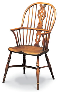 georgian double bow windsor chair
