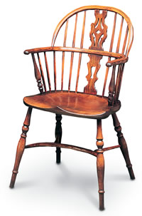 low back georgian double bow windsor chair