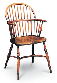 low back stickback double bow windsor chair