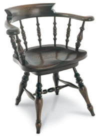 smokers bow windsor armchair with swivel