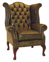 Queen Mary Wing Chair Sofa Settee