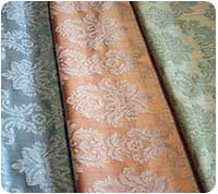 Samples of damask fabric