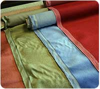 Samples of Draylon fabric