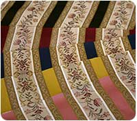 Samples of Regency striped fabric